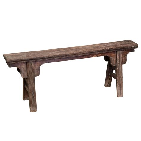 narrow bench chinese rustic narrow bench at 1stdibs