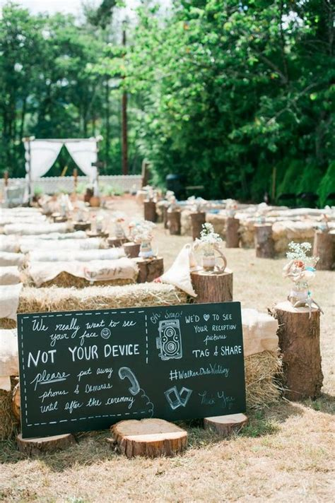 30 rustic outdoor wedding decorations with hay bales oh best day