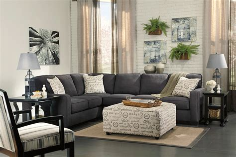Living Room With Charcoal Sofa by Alenya Charcoal 3pc Laf Sofa Sectional