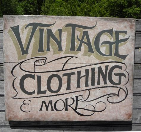 vintage clothing sign painted faux vintage wooden