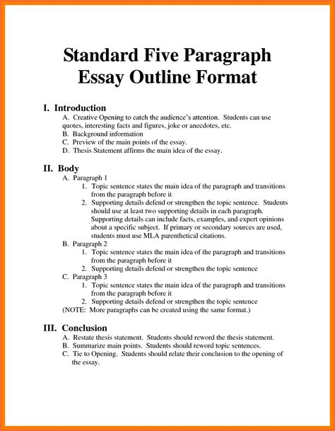 informative essay sample research paper outline template essay