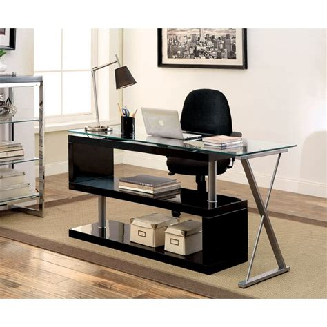 Furniture Of America Fiora Modern Swivel Computer Desk In Swivel Computer Desk