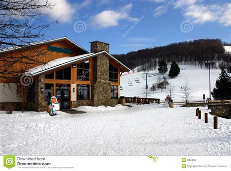 Ski Lift Lodge And Cabins by Ski Lodge Stock Photo Image Of Building Lifts Resort