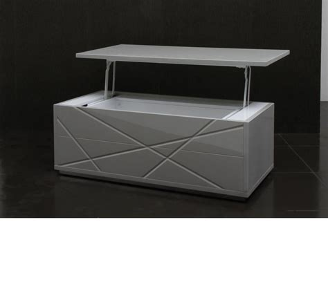 dreamfurniture modern gray lacquer coffee table 848ct