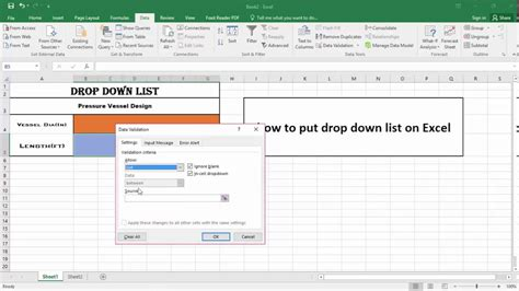 how to a to drop a how to make drop list on excel 2016