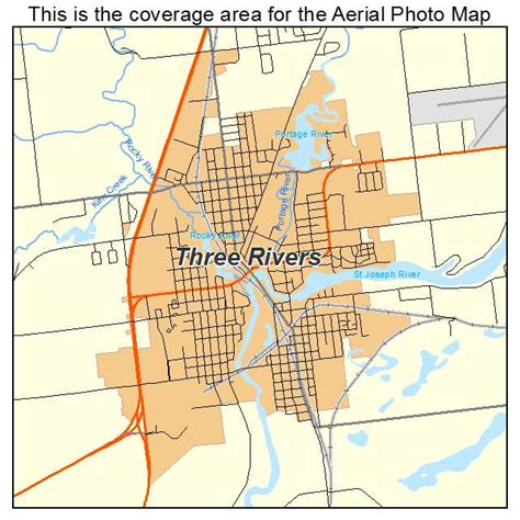 three rivers map three rivers mi pictures posters news and on