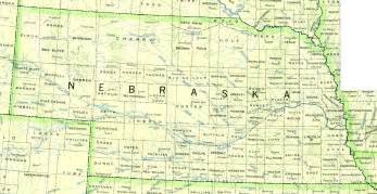 nebraska outline maps and map links