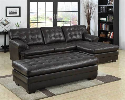 leather sectional sofas with chaise luxurious bonded leather brown sofa chaise sectional set
