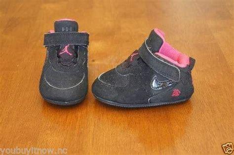 Crib Size Jordans by Nike Air Ajf 6 Crib Shoes Infant Size 2c Black Pink