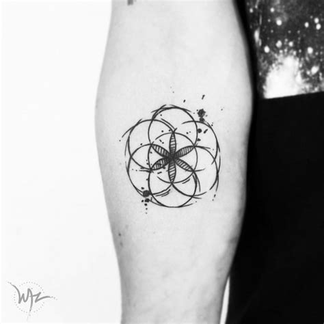 seed of life tattoo 66 blackwork tattoos driving to ink tattoomagz