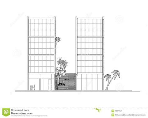 side elevation side elevation of modern building stock image image