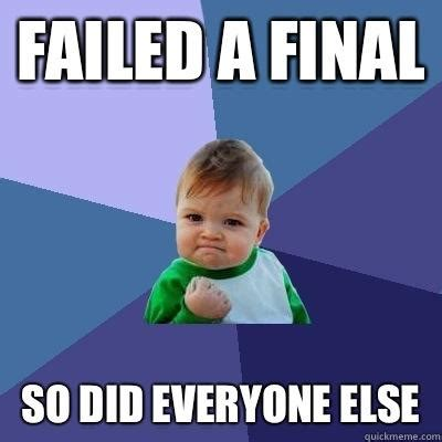 Memes About Final Exams - failed a final so did everyone else success kid quickmeme