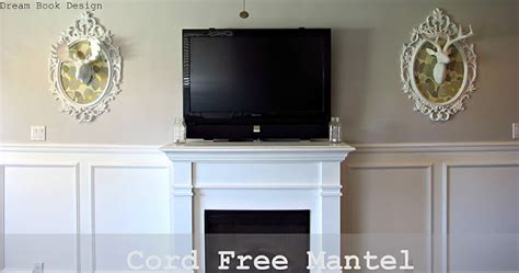 how to put something on the wall without nails cord free mantel how to hide your cable box system
