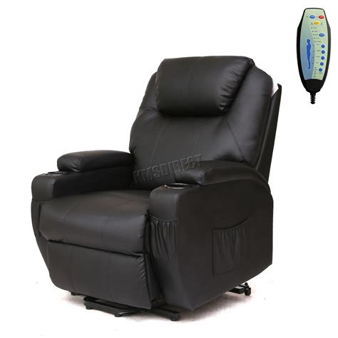 Recliner Heat Chair by Faux Leather Rise Recliner Mobility Tilt Lift Arm