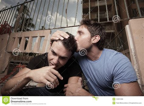how to comfort a man one man comforting another man stock photo image 10261356