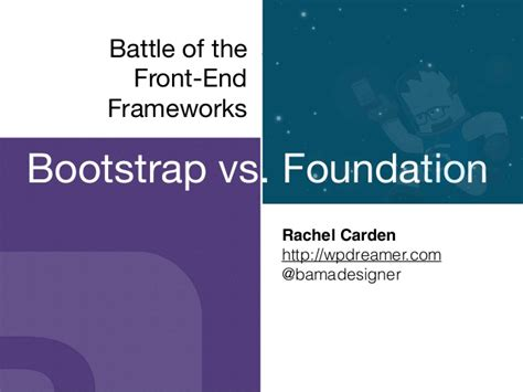 front end reactive architectures explore the future of the front end using reactive javascript frameworks and libraries books battle of the front end frameworks bootstrap vs foundation