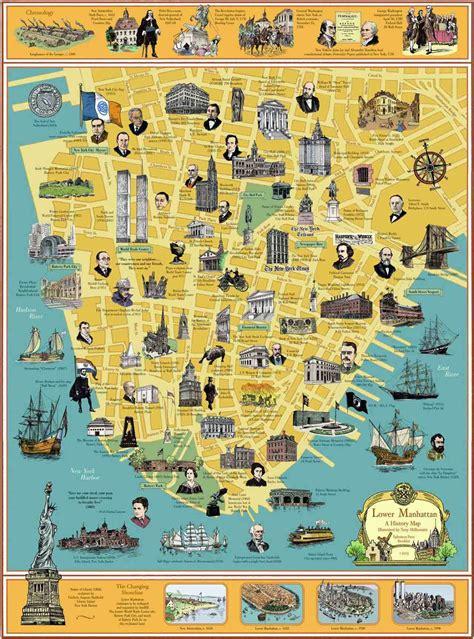 manhattan landmarks map the travelling teachers new york