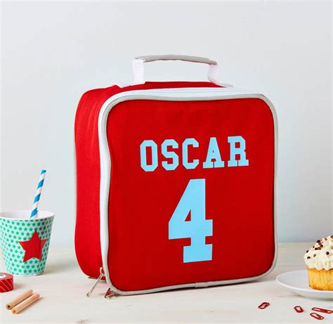 Age Lunch Bag boys personalised age insulated lunch bag by tilliemint notonthehighstreet