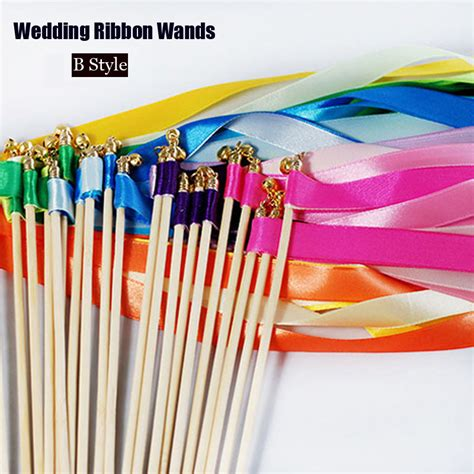 Original Colorful Magic Stick For aliexpress buy 50pcs lot wedding ribbon stick wands