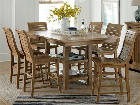pine dining room sets willow distressed pine rectangular extendable counter