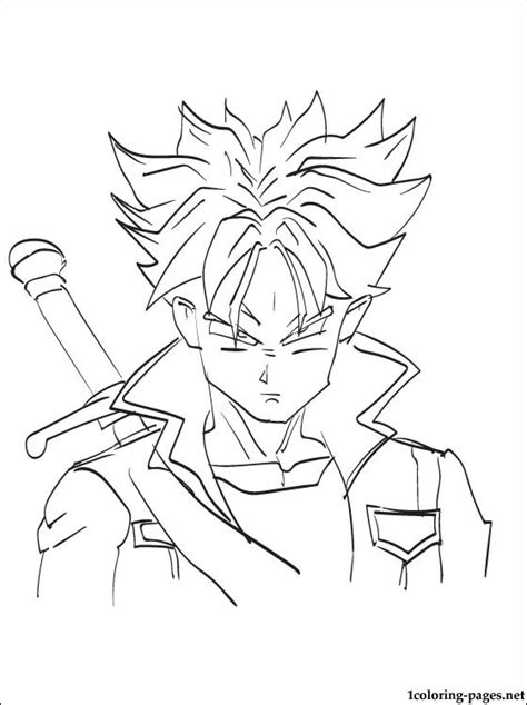 future trunks dragon ball coloring page coloring pages