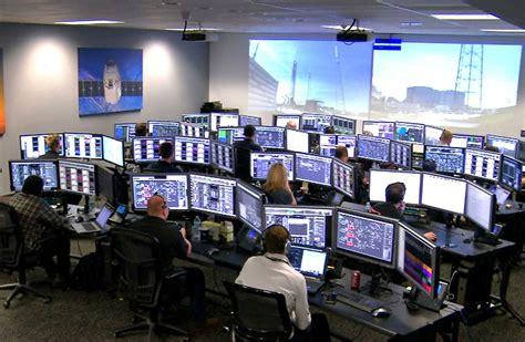 nasa room engineers at spacex launch center nasa