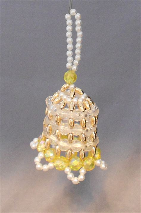 1960s vintage bell shaped beaded ornament in x