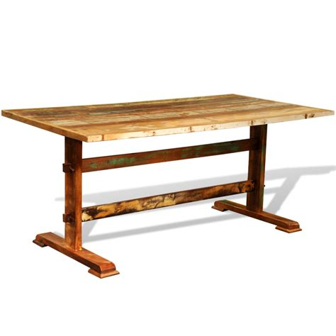 Antique Style Dining Tables Multicolor Reclaimed Wood Dining Table Vintage Antique