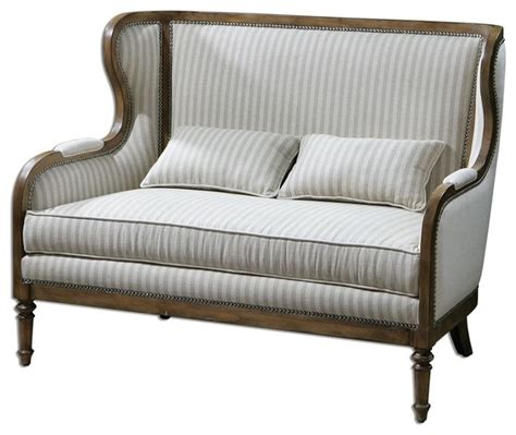 Traditional Sofas And Armchairs by Uttermost Neylan High Back Loveseat Traditional