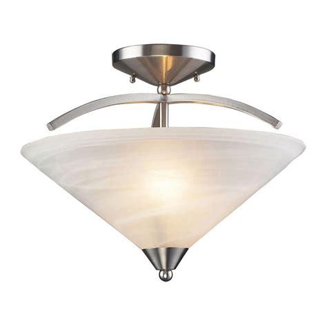 geometric flush mount light design house bristol 2 light satin nickel 2 dome ceiling