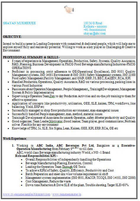 Resume Format In Kannada 10000 Cv And Resume Sles With Free Cv