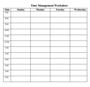 time management calendar template printable time management schedule calendar template 2016