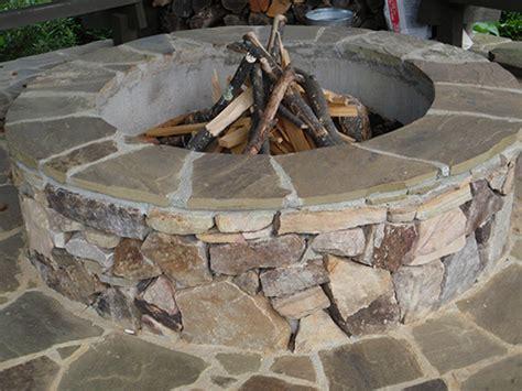backyard stone fire pit stone outdoor fireplaces fire pits stone chimneys ambrose landscapes outdoor