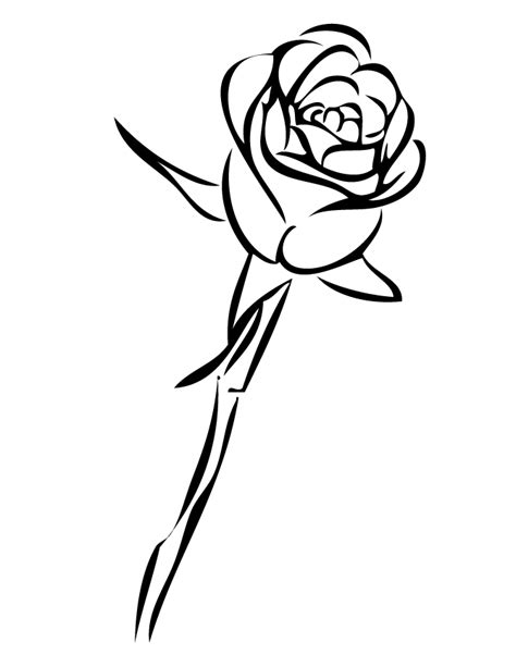 coloring sheet of rose coloring roses pictures single rose coloring page