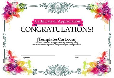 template for certificate of appreciation in microsoft word certificate of appreciation templates design in ms word