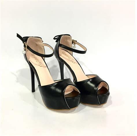 Sepatu High Heel 11cm Model Black Style Fashion Impor jual shh987 black sepatu heels elegan 11cm grosirimpor