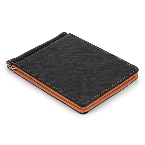 Mini Wallet Bifold stylish ultra thin money clip faux leather cardholder