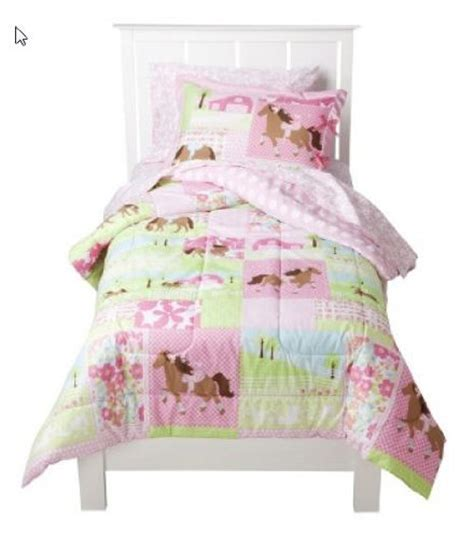 horse bedding sets twin girls pony horse twin comforter set 5 piece bed in a bag new