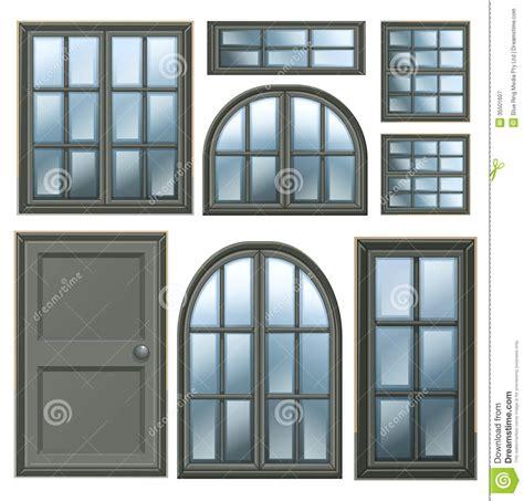 imagenes libres de ventanas diverso dise 241 o de las ventanas ilustraci 243 n del vector