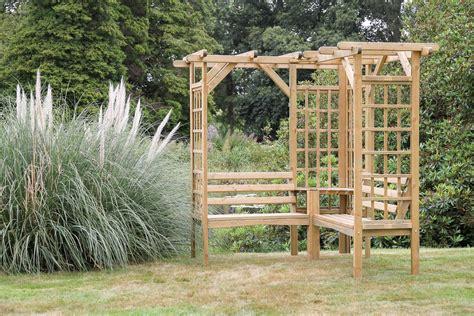 Corner Storage Bench Winchester Pergola Seat Garden Furniture Land