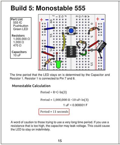 capacitor resistor clock resistor capacitor calculator 555 timer 28 images 555 timer basics monostable mode pic