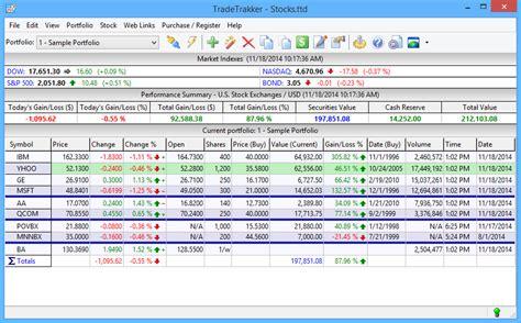 Tradetrakker Screenshots Sle Investment Portfolio Templates