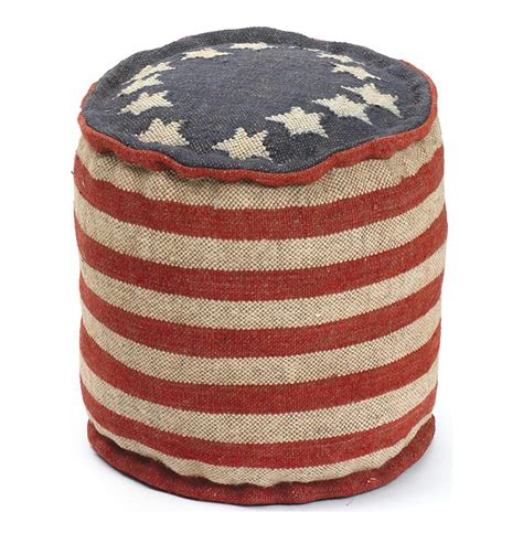 kilim pouf ottoman betsy ross recycled kilim american flag round pouf ottoman