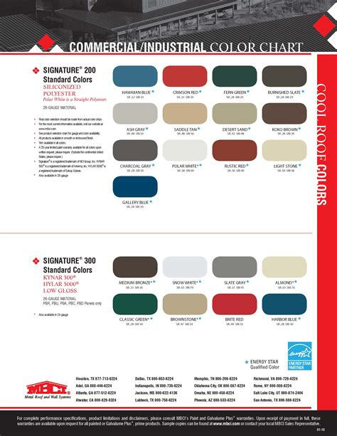 mbci color chart mbci color chart firestone metal roofing color chart 12