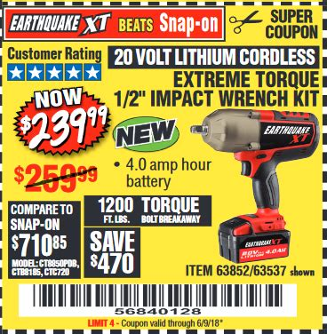 earthquake xt cordless impact review harbor freight tools coupon database free coupons 25