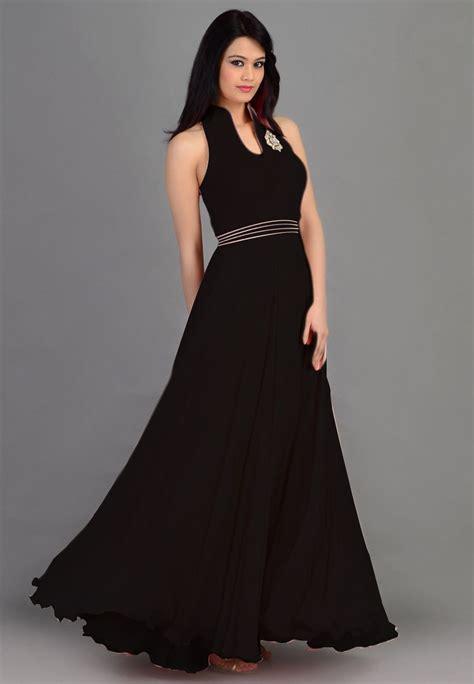 Ar Dress Heavy thankar designer heavy black sleeveless gown gown