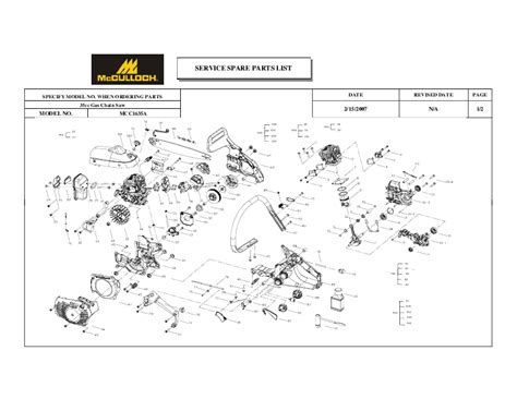 mcculloch parts diagram page 10 of mcculloch chainsaw mcc1635a user s guide manualsonline