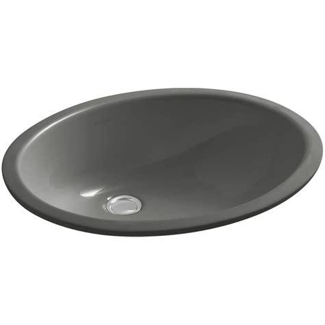 kohler thunder grey sink kohler caxton vitreous china undermount bathroom sink with