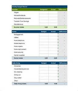 Personal Monthly Budget Template Free Budget Template 41 Free Word Excel Pdf Format