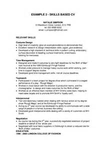 cv skills profile resume exles this resume exle begins applicants cv skills profile